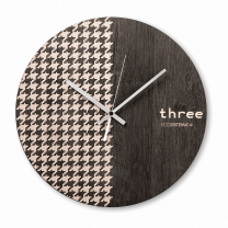 ECO Wall Clock - Pied de Poule